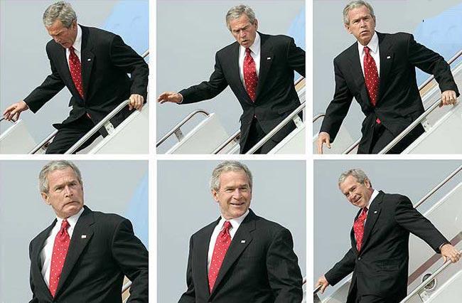 سياسيون بمنتهى الجاذبية.....لوووول Bush_avion